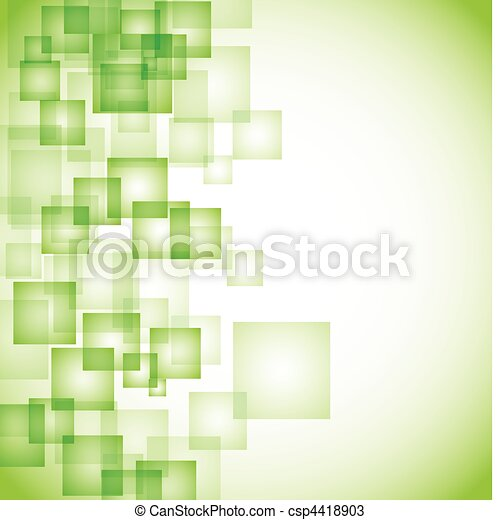 abstract green square background - csp4418903