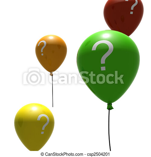 balloons with question-mark symbols - csp2504201
