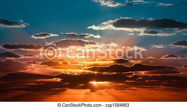 Beautiful sunrise - csp1584863