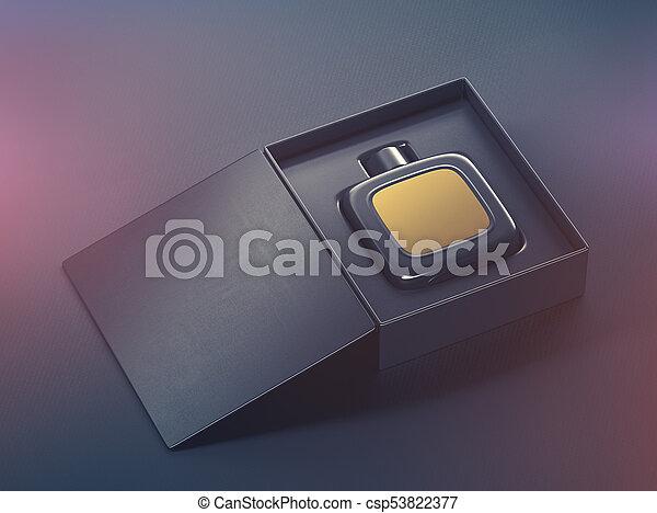 Black fragrance perfume bottle mockup - csp53822377
