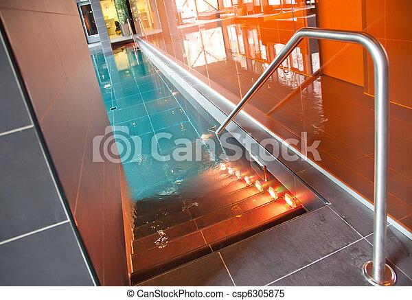 blue swimming pool - csp6305875