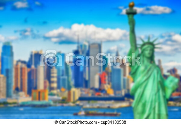 Blurred defocus background image from NYC, New York City - csp34100588