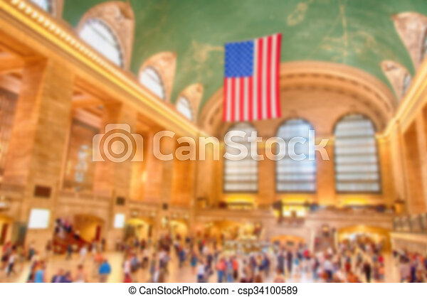 Blurred defocus background image from NYC, New York City - csp34100589