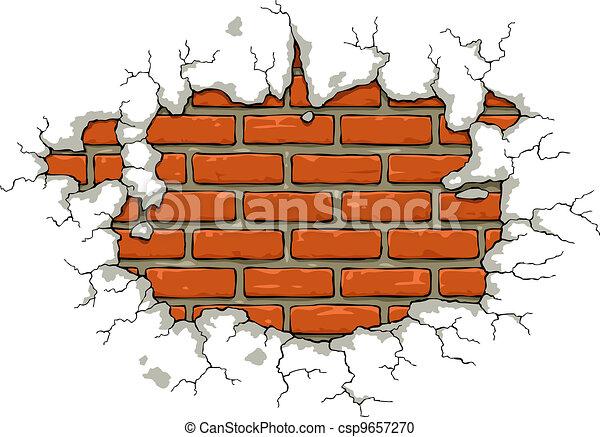 Brick wall - csp9657270