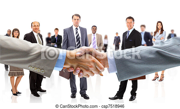 Business people shaking hands - csp7518946