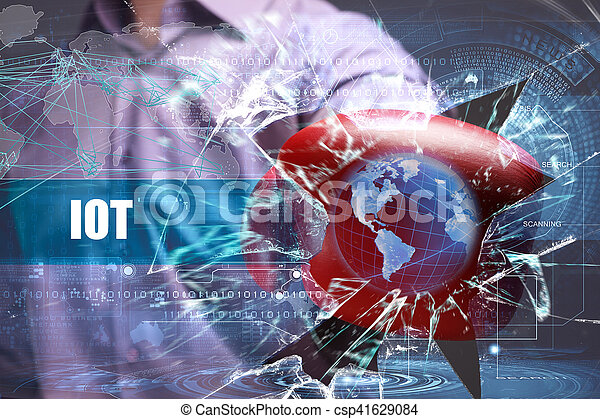 Business, Technology, Internet and network security. IOT - csp41629084