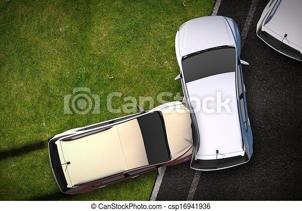 Cars Crash Illustration - csp16941936