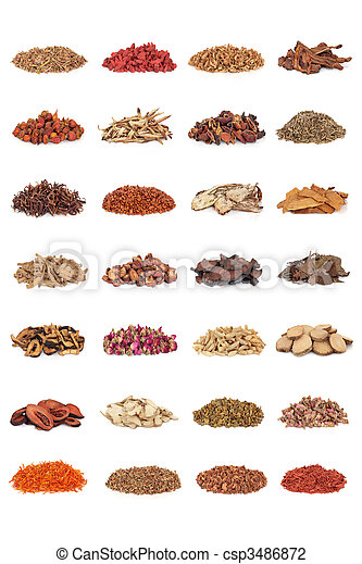 Chinese Medicinal Herbs - csp3486872
