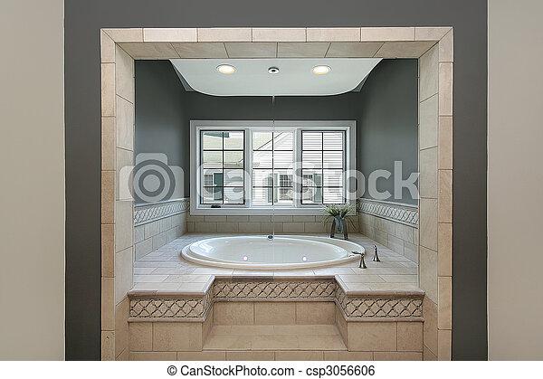 Circular tub in master bath - csp3056606