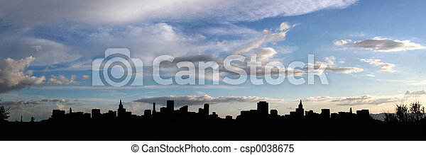 City silhouette - csp0038675