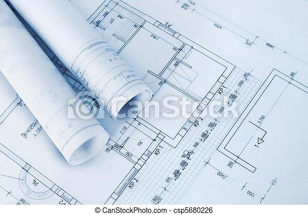 Construction plan blueprints - csp5680226