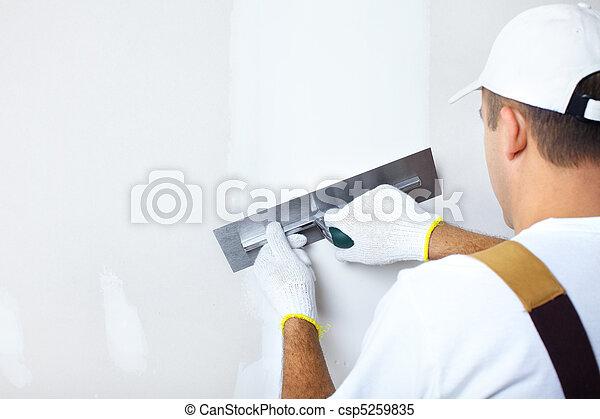 Contractor plasterer - csp5259835
