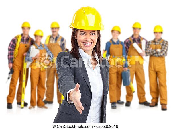 contractors workers people - csp5809616