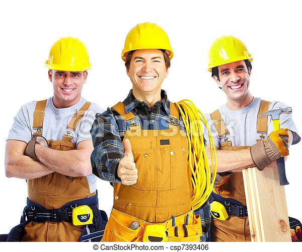 Contractors workers people. - csp7393406