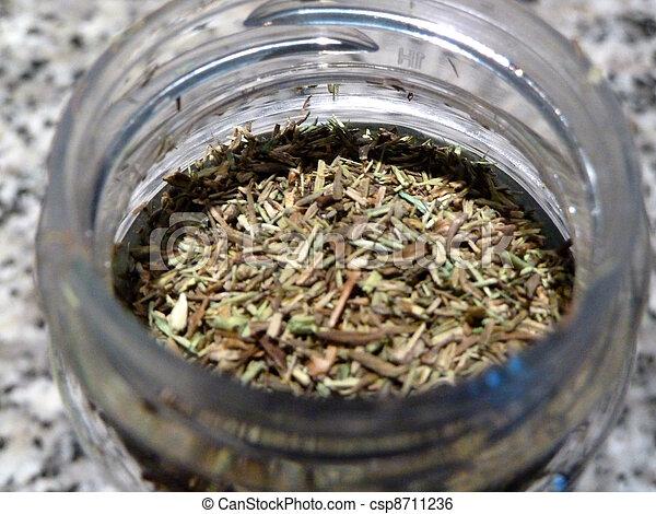 dried herbs - csp8711236
