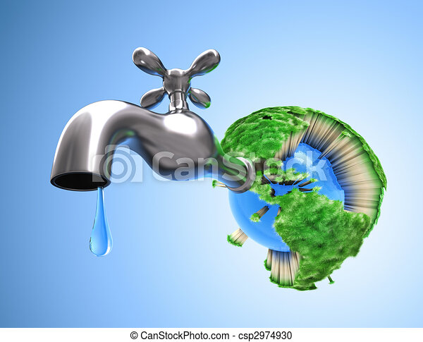 Drying the Planet Earth - csp2974930