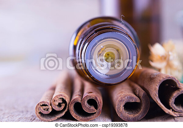 Essential oil with cinnamon - csp19393878