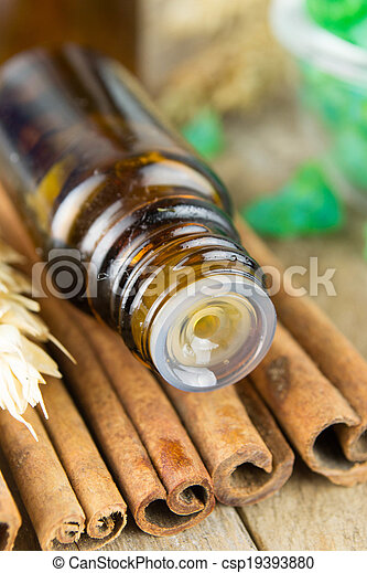 Essential oil with cinnamon - csp19393880