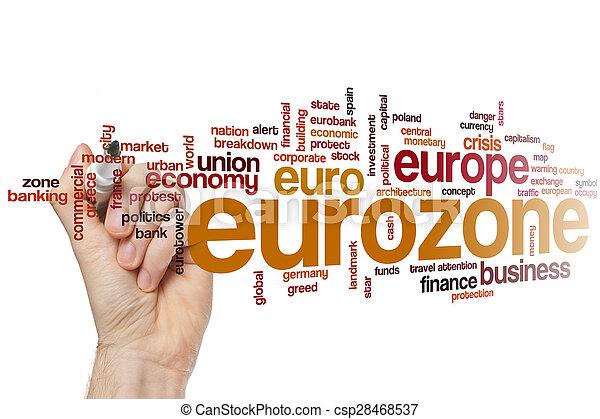 Eurozone word cloud - csp28468537