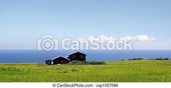 Farm by the ocean - csp1007066