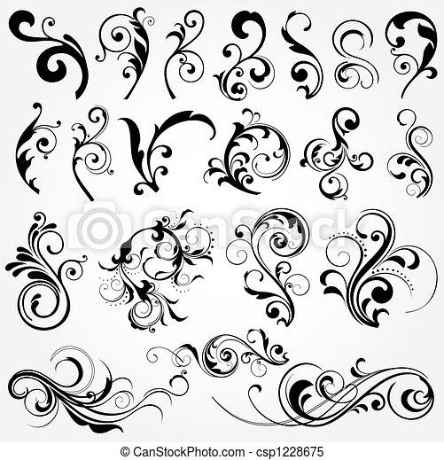 floral design elements - csp1228675