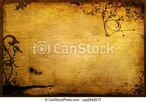 floral style textures and backgrounds frame - csp2442673