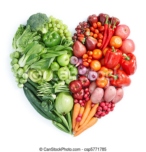 green and red healthy food - csp5771785