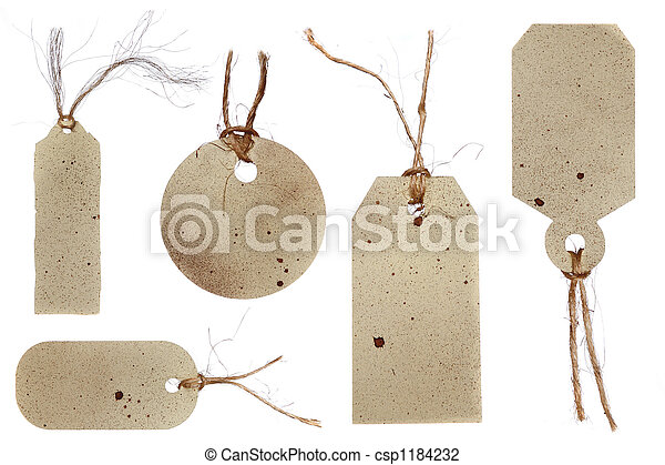 Grunge Style Tags for Gifts, Price, or Scrapbooking - csp1184232
