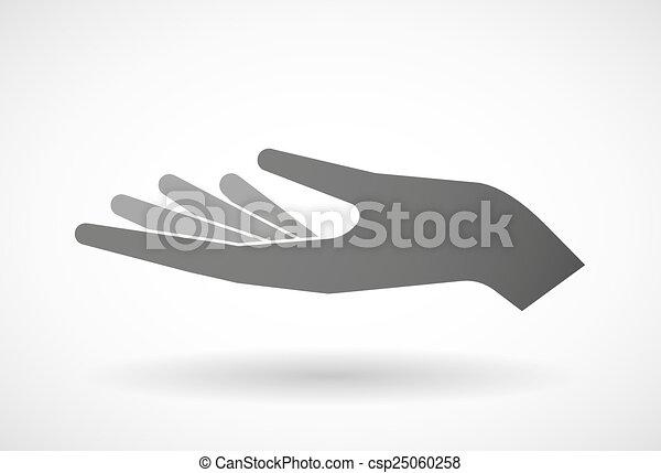 Hand giving - csp25060258