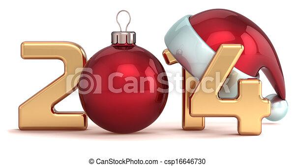 Happy New Year 2014 Christmas ball - csp16646730