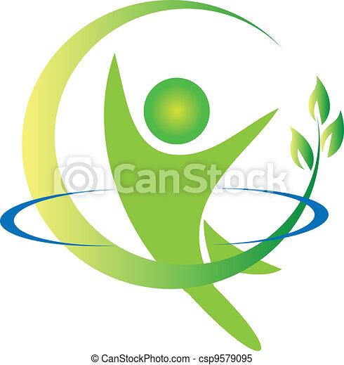 Health nature logo vector - csp9579095