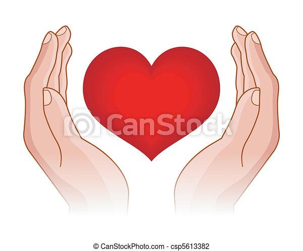heart in hands - csp5613382