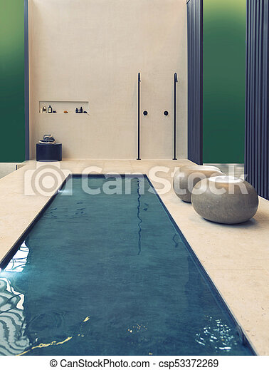 home swimming pool in contemporary style - csp53372269