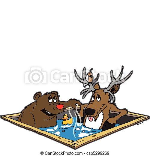 Hot tubbin critters - csp5299269