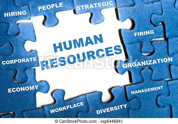 Human resources puzzle - csp6446841