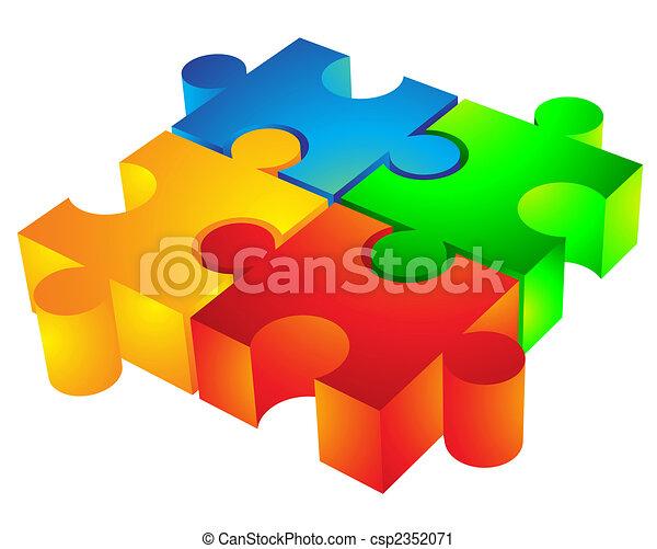 Jigsaw: 3d icon - csp2352071