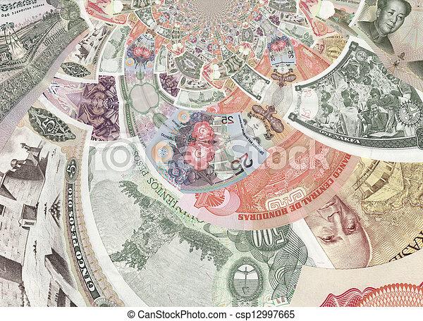 Kaleidoscopic Banknotes Collage - csp12997665