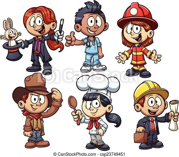 Kids occupations - csp23749451