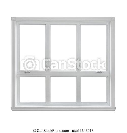 Modern window isolated on white background - csp11646213