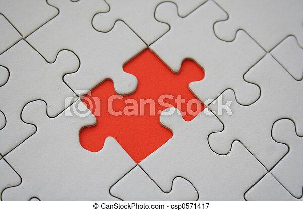 Orange jigsaw - csp0571417