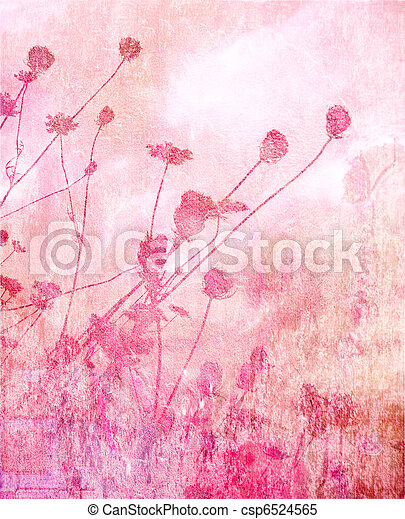 Pink soft summer meadow background - csp6524565