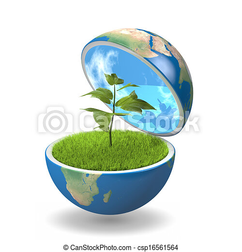 Plant inside planet - csp16561564
