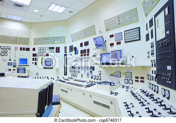 Power Station Control Room - csp6746317