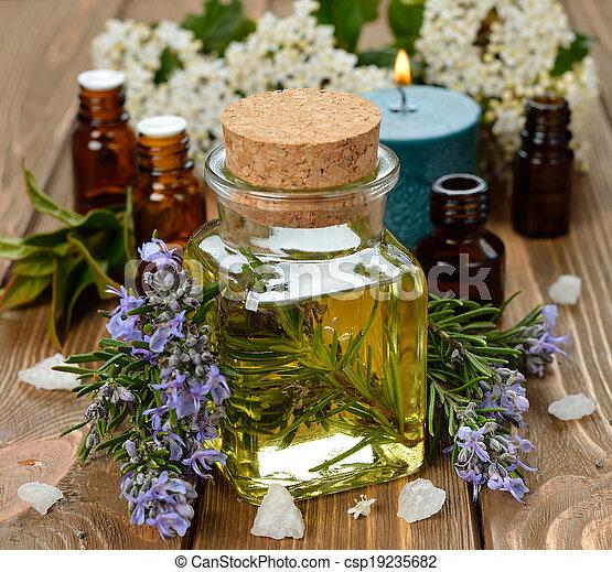 Rosemary essential oil - csp19235682