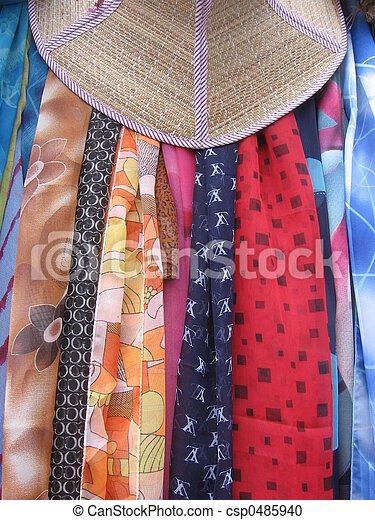Scarves and Hat - csp0485940