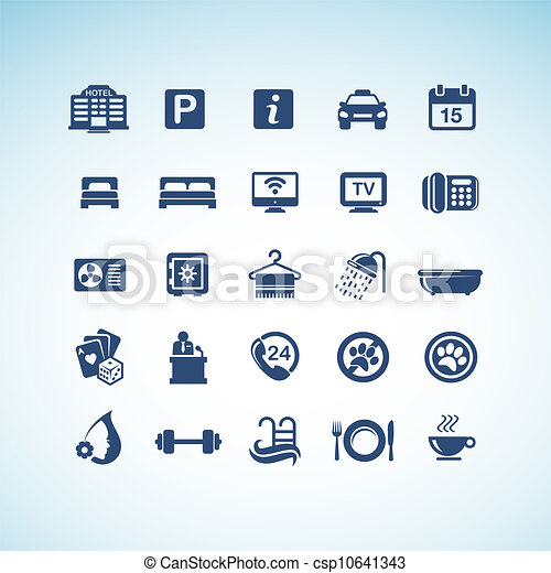 Set of hotel icons - csp10641343