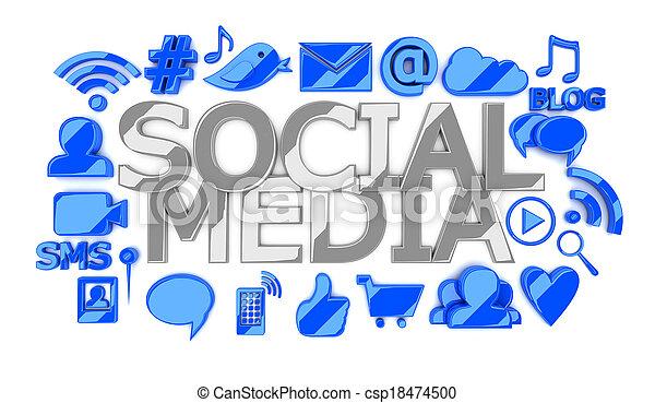 Social media icons - csp18474500