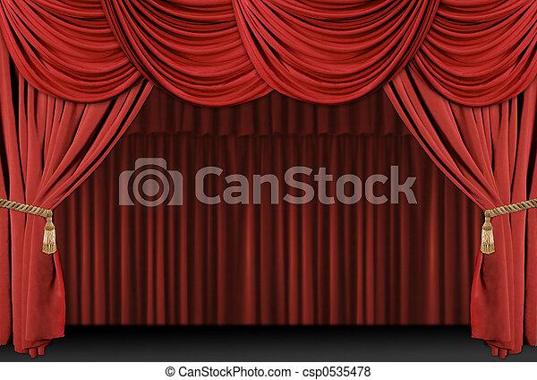 Stage Theatre Drape Background - csp0535478