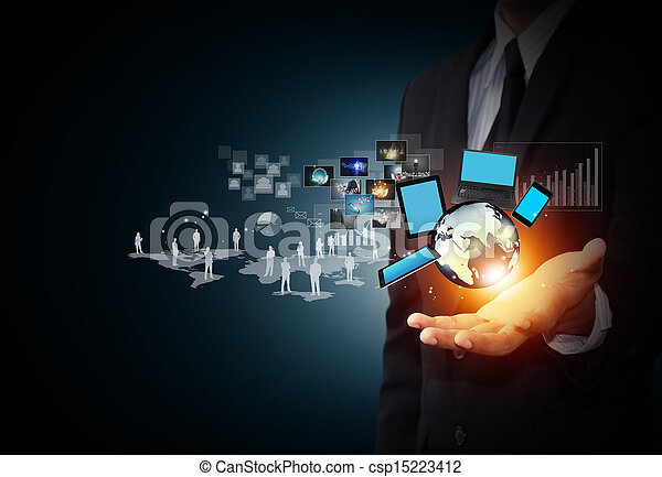 Technology and social media - csp15223412