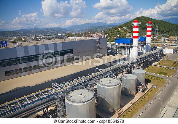 thermal power plant - csp18564270